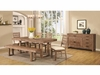 6 PC Elmwood Rustic Table and Chair Set with Dining Bench