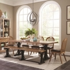 6PC Bishop French Farmhouse Dining Table Set with Bench