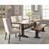 6PC Burnham Rustic Live Edge Dining Table Set with Bench Set by Scott Living