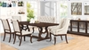 6PC Glen Cove Antique Java Traditional Dining Table Set