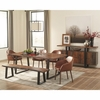 6PC Jamestown Rustic Dining Room Group with Brown Chairs