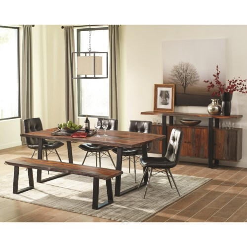 rustic scott living 5pc dining room sets 107511 dining room dining