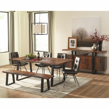 6PC Jamestown Rustic Live Edge Dining Set by Scott Living