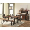 6PC Jamestown Rustic Live Edge Dining Set