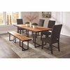 6PC Suthers Rustic Table and Chair Set with Bench