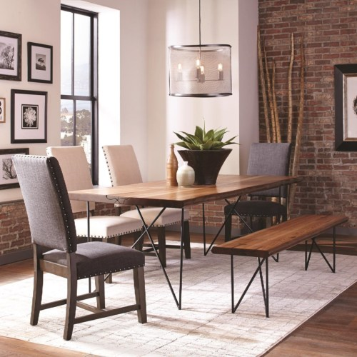 scott living 6pc dining room sets 107781 dining table dining chair