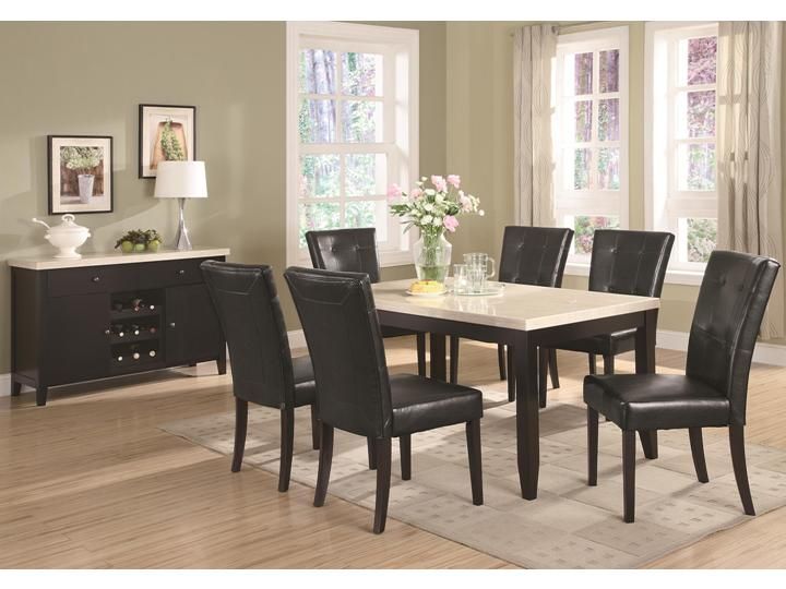 contemporary faux marble  PC dining room set dining table dining