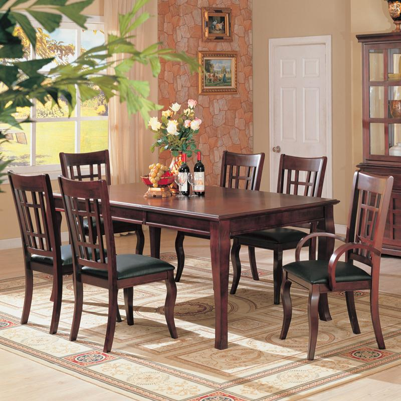 7 PC Newhouse Dining Set Table 2 Arm Chair 4 Chairs