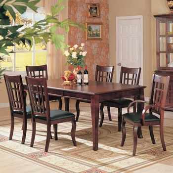 7 PC Newhouse Dining Set Table dining table 2 Arm chair 4 Chairs