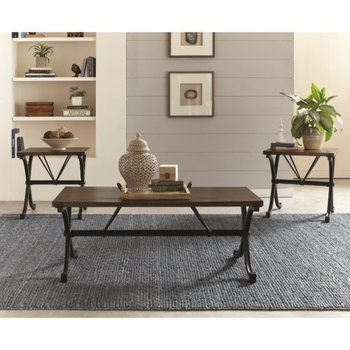 700866 Industrial Three Piece Table Set