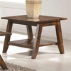 70403 Mid Century End Table with Rustic FInish
