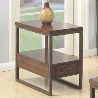 70430 Industrial Chairside Table with One Drawer
