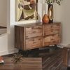 70549 Two-Tone Rustic Sofa Table
