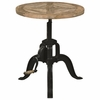 70552 Industrial Adjustable Height End Table