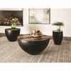 70553 Coffee Table with Black Drum Base