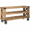 70554 Industrial Sofa Table with Casters