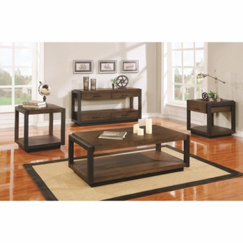 70565 Industrial Coffee Table with Black Frame by Scott Living