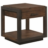 70565 Industrial End Table With Black Metal Frame by Scott Living