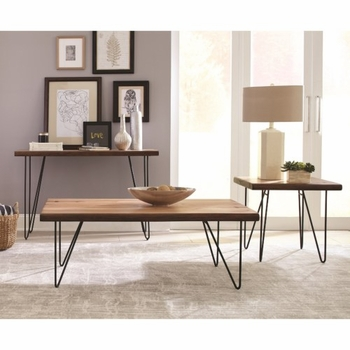 707758 Live Edge Coffee Table with Hairpin Legs