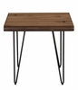 70566 Live Edge End Table with Hairpin Legs by Scott Living