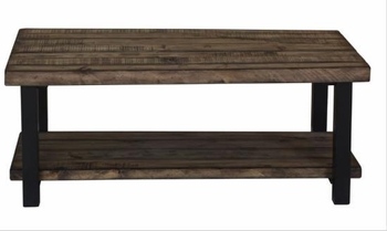 70567 Rustic Planked Top Coffee Table