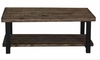 70567 Rustic Planked Top Coffee Table by Scott Living