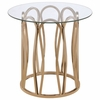 708057 Round End Table with Metal Base