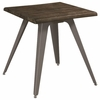 70581 Rustic End Table with Live Edge Top