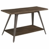 70581 Rustic Sofa Table with Live Edge Top