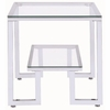 70588 Contemporary Glass Top End Table