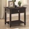 72103 Square End Table with Drawer and Shelf