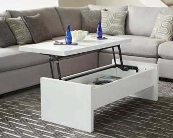 72124 Modern Glossy Lift Top Coffee Table by Scott Living