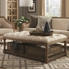 72141 Upholstered Coffee Table with Nailhead Trim