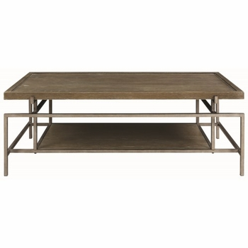 72143 Contemporary Coffee Table with Metal Frame