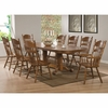 7PC Brooks Table Set with Oak Finish Oval Trestle Table