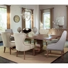 7PC Florence Rectangular Table and Upholstered Arm Chair Set