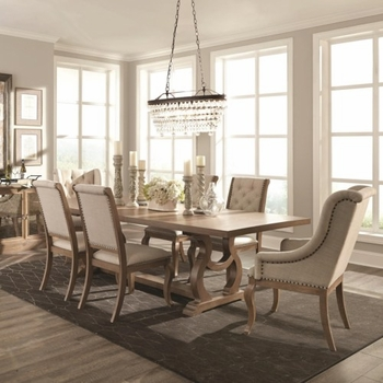 7PC Glen Cove Traditional Trestle Table and Chair Set by Scott Living