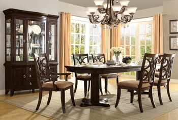 7PC Keegan Dining Room Set Table, 2 Arm Chair and 4 Side Chair