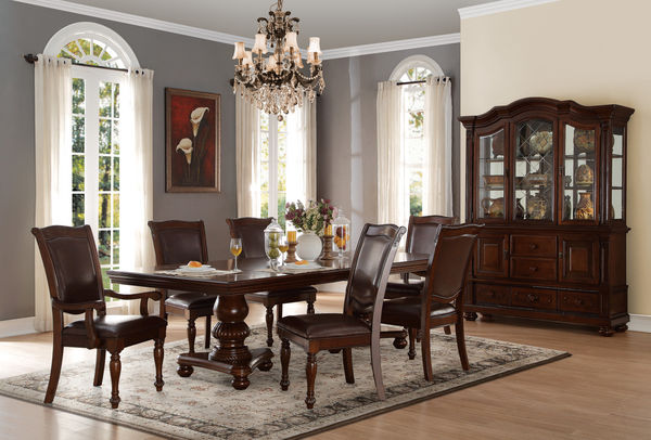 7PC Lordsburg Dining Room Set Table 2 Arm Chairs And 4 Side