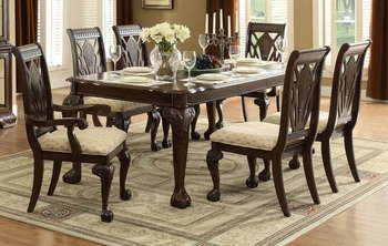 7PC Norwich Dining Room Set dining table, 2 arm chairs and 4 side chairs