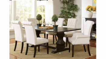 7PC Parkins dining 107411 set (Table, 2 Arm chairs and 4 side chairs)