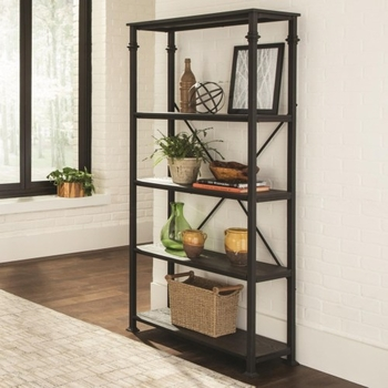 8014 Industrial Four Shelf Bookcase
