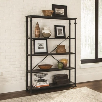 8014 Industrial Four Shelf Bookcase by Scott Living