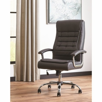 801528 Black Leatherette Office Chair