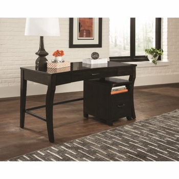80175 Transitional Writing Desk with Curved Legs