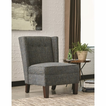 903369 Upholstered Accent Chair with Wing Back Design