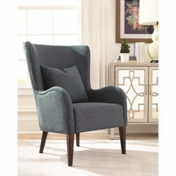 903370 Winged Accent Chair with Curving Arms and Backrest