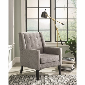 903379 Accent Chair with Demi-Wings and Button Tufting