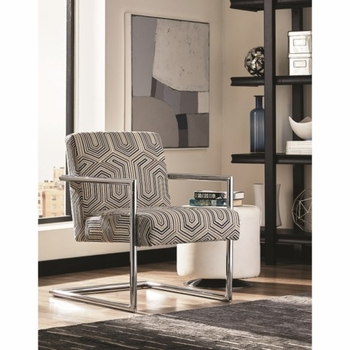 903402 Modern Accent Chair with Geometric Pattern