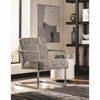 903402 Modern Accent Chair with Geometric Pattern by Scott Living
